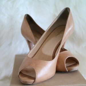 Cole Haan Margot Peep Toe Pump Sandstone Leather